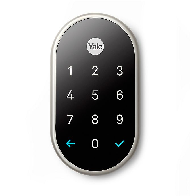 Alternate image 1 for Nest x Yale Lock with Nest Connect in Satin Nickel