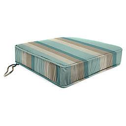 Stripe Outdoor 20-Inch Chair Cushion in Sunbrella® Gateway Mist