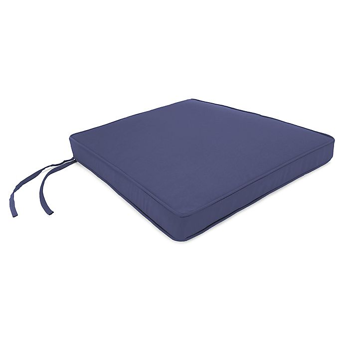 Alternate image 1 for Solid Outdoor Boxed Seat Cushion in Veranda Marine