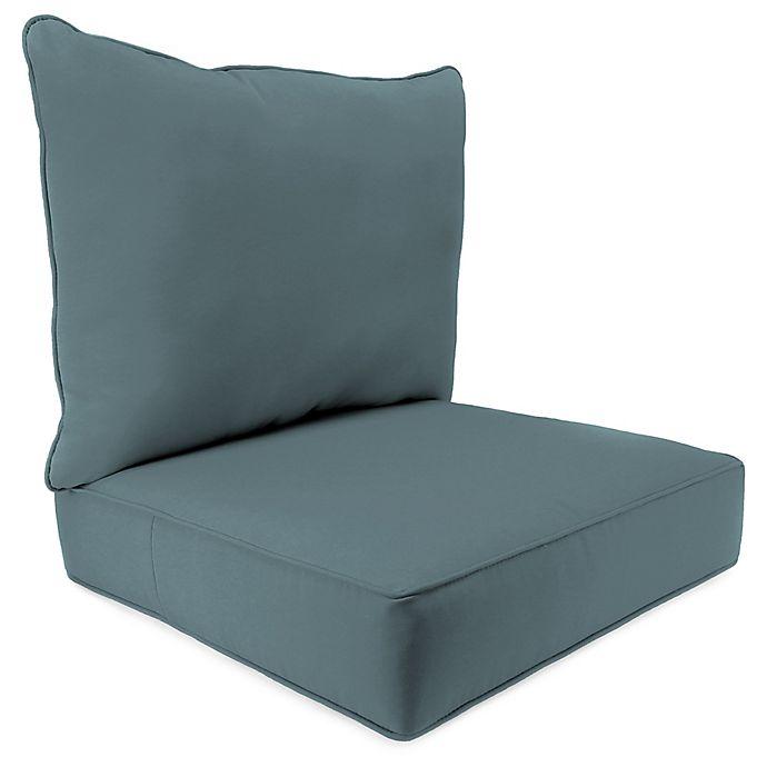 Alternate image 1 for Outdoor 24-Inch Deep Seat Chair Cushion in Sunbrella® Cast Lagoon