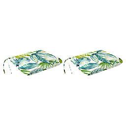 Jordan Manufacturing Senca Caribbean 18-Inch Knife Edge Dining Chair Cushions in Green (Set of 2)