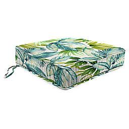 Jordan Manufacturing Senca Caribbean 22.5-Inch Square Boxed Edge Cushion in Green