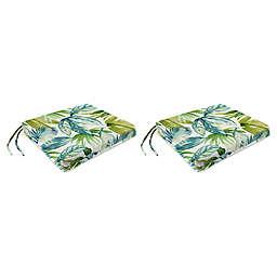 Jordan Manufacturing Senca Caribbean 16.5-Inch Square French Edge Cushions in Green (Set of 2)