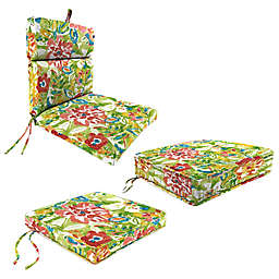 Jordan Manufacturing Sunriver Garden Cushion and Pillow Collection in Green/Orange