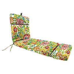 Jordan Manufacturing Sunriver Garden 72-Inch Chaise Lounge Cushion in Green/Orange