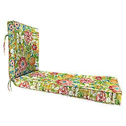 Jordan Manufacturing Sunriver Garden 80-Inch Chaise Lounge Cushion in Green/Orange