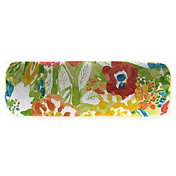 Jordan Manufacturing Sunriver Garden 20-Inch Lumbar Oblong Throw Pillow in Green/Orange