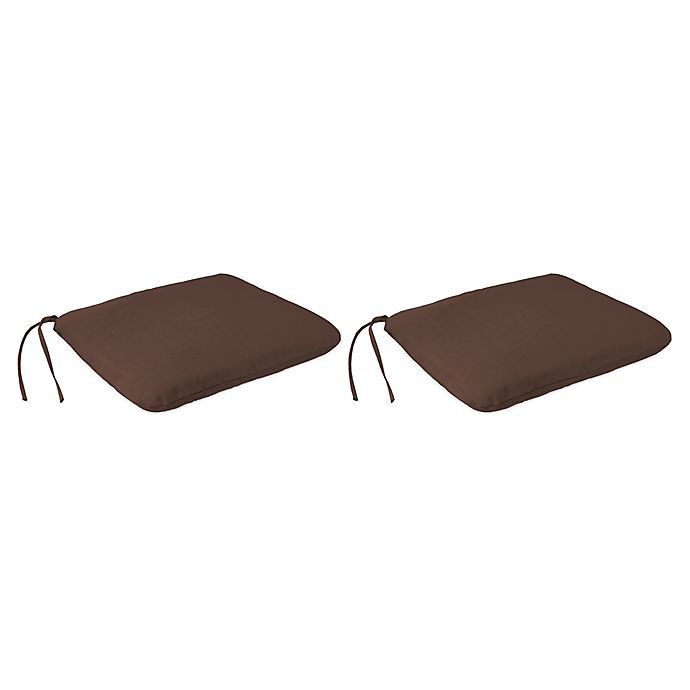 Outdoor 18 Inch Knife Edge Dining Seat Cushions In Sunbrella Cast