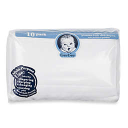 Gerber® 10-Pack Gauze Prefolded Cotton Diapers with Pads