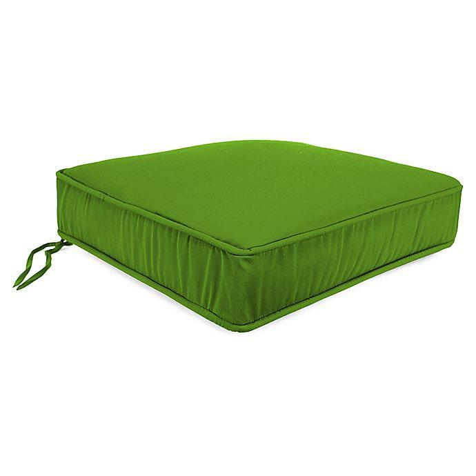 Alternate image 1 for Solid 21.5-Inch Boxed Edge Deep Seat Cushion in Veranda Citrus