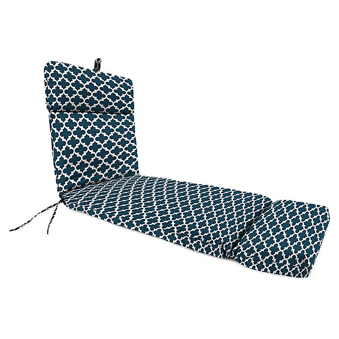 Alternate image 1 for Print 72-Inch Chaise Lounge Cushion in Trellis Blue