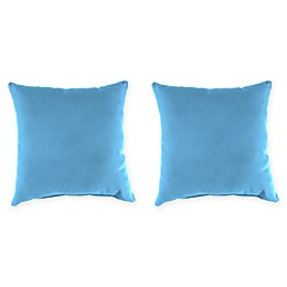20-Inch Square Solid Throw Pillows in Sunbrella® (Set of 2)