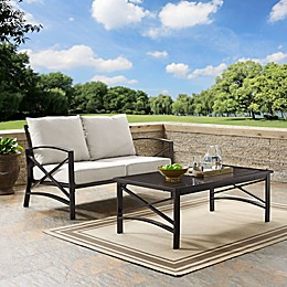 Crosley Kaplan Patio Loveseat and Coffee Table Set