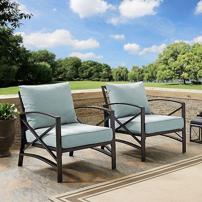 Alternate image 1 for Crosley Kaplan Patio Chairs (Set of 2)