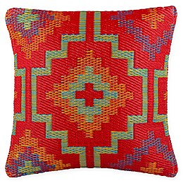Fab Habitat Lhasa Indoor/Outdoor Accent Pillow in Orange/Violet