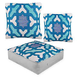 Fab Habitat Seville Indoor/Outdoor Pillow Collection in Blue