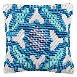 Fab Habitat Seville Indoor/Outdoor Square Accent Pillow in Blue