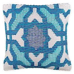 Fab Habitat Seville Indoor/Outdoor Square Accent Pillow in Blue