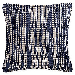 Fab Habitat Brooklyn Square Indoor/Outdoor Accent Pillow in Dark Blue