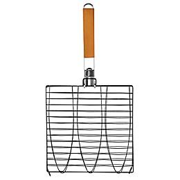 Mr. Bar-B-Q® Triple Fish Basket with Folding Handle