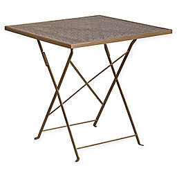 Flash Furniture 28-Inch Square Folding Bar Table in Gold