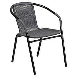 Flash Furniture All-Weather Rattan Restaurant Stack Chair