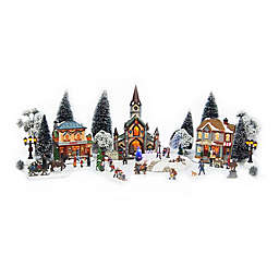 christmas village 30 piece battery operate set