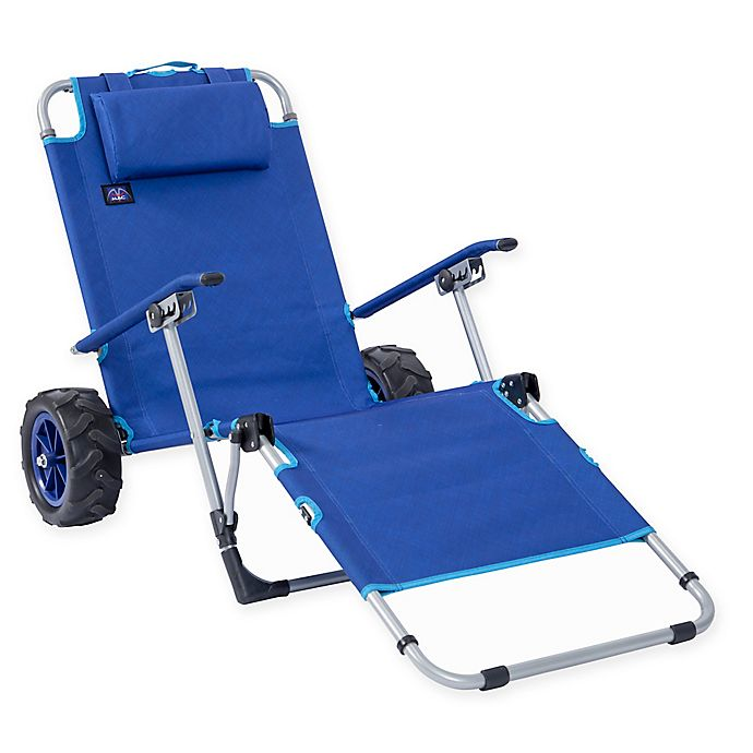 Alternate image 1 for Mac Sports Beach Day Multi-Purpose Lounger and Pull Cart in Blue