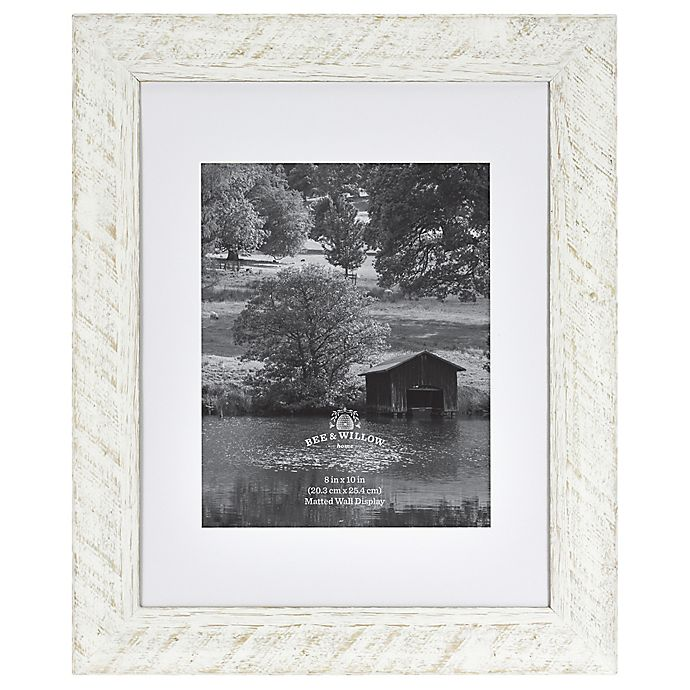 Alternate image 1 for Bee & Willow™ Home 8-Inch x 10-Inch Matted Wood Picture Frame in White