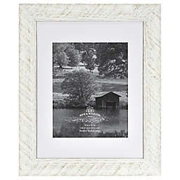 Bee & Willow™ Home 8-Inch x 10-Inch Matted Wood Picture Frame in White