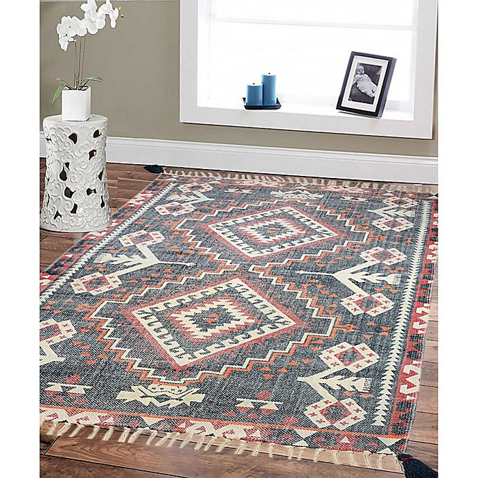 Alternate image 1 for Style Co-op Prism Printed Stone Wash 3' x 5' Area Rug in Red/Navy