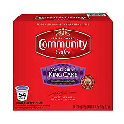 54-Count Community Coffee® Mardi Gras King Cake Coffee for Single Serve Coffee Makers