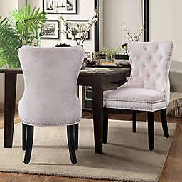 Chic Home Velvet Upholstered Dining Chairs (Set of 2)