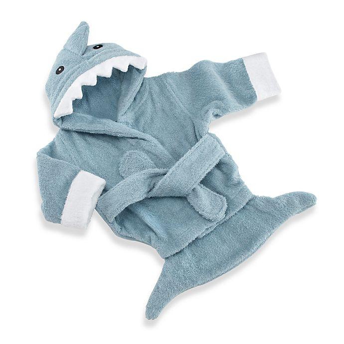 Alternate image 1 for Baby Aspen Blue Terry Shark Bathrobe