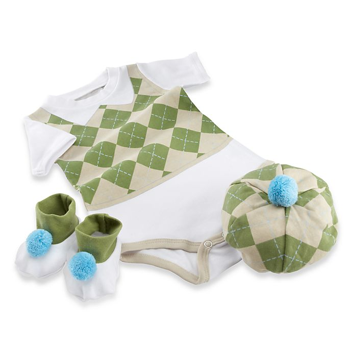 Alternate image 1 for Baby Aspen 3-Piece Golf Layette Set
