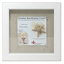Lawrence Frames Linen-Lined 8-Inch x 8-Inch Shadow Box Frame in White