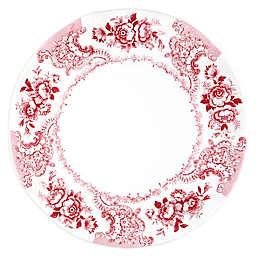 Q Squared Cambridge Rose Round Serving Platter
