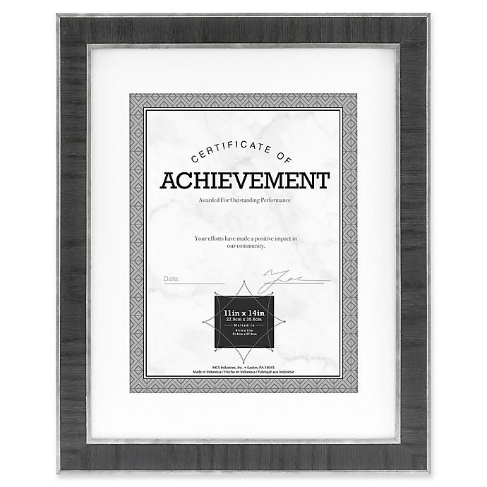 Alternate image 1 for Eastonian 8.5-Inch x 11-Inch Wood Matted Wall Frame in Black with Silver