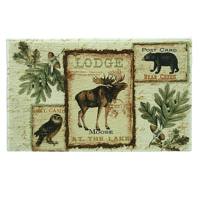 Alternate image 1 for Lodge Memories Bacova Bath Rug Collection