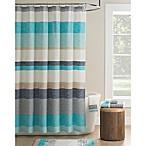 KAS Seneca Shower Curtain in Aqua