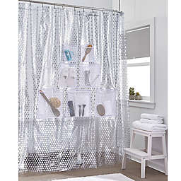 Stuffits Vinyl Shower Curtain With Mesh Pockets