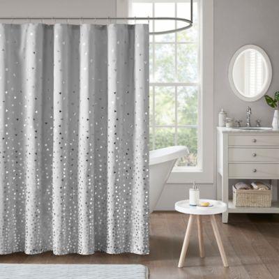 Intelligent design zoey shower curtain in grey silver bed bath beyond - Intelligent shower ...