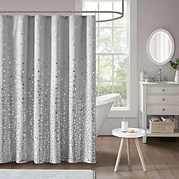 Intelligent Design Zoey Shower Curtain in Grey/Silver
