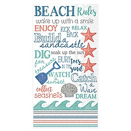 Boston International 3-Ply 16-Count Beach Themes Paper Guest Towels