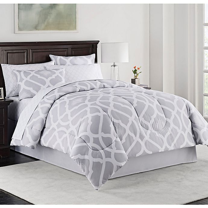 Kiley Twin Xl Comforter Set In Grey Bed Bath And Beyond Canada