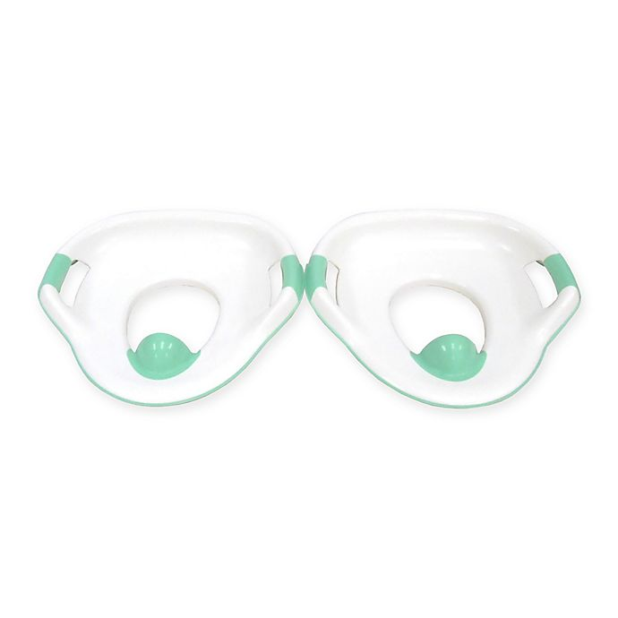 Alternate image 1 for The First Years™ Soft Grip Potty Trainer Seat in White/Teal (Set of 2)