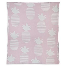 Hello Spud Pineapple Chenille Knit Blanket in Pink