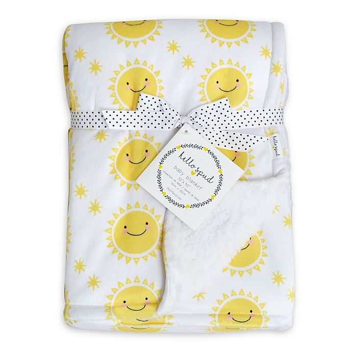 Alternate image 1 for Hello Spud Sun Plush Baby Blanket in Yellow