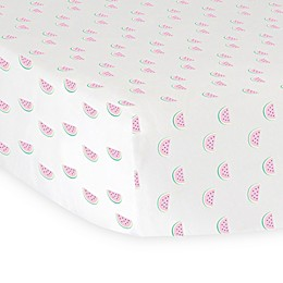 Hello Spud Watermelon Organic Cotton Jersey Fitted Crib Sheet in Pink