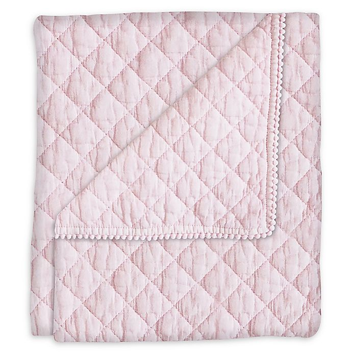 Alternate image 1 for Hello Spud Diamond Stonwash Quilt in Pink